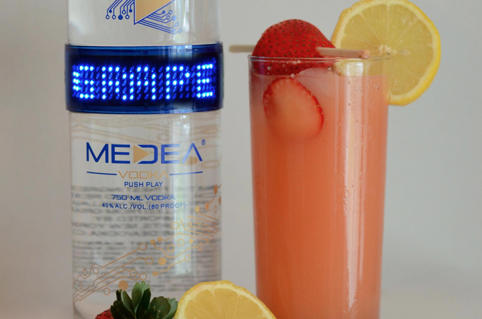 Medea Grapefruit Strawberry Collins